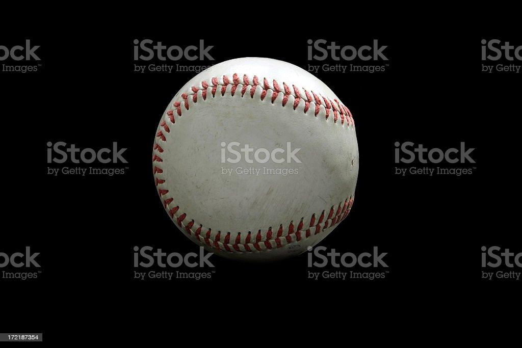Baseball (black isolated) royalty-free stock photo