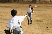 two young baseball players