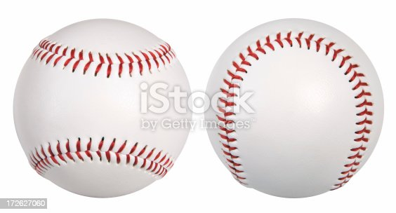 New baseball isolated on white background. MORE in this series: