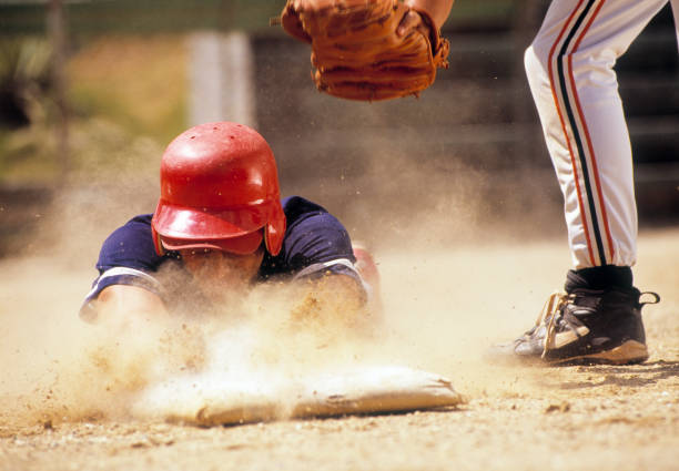 baseball - sliding stock photos and pictures
