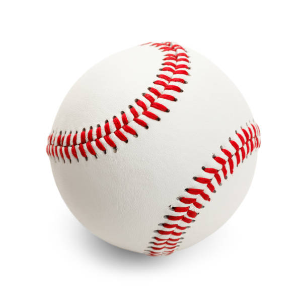 Baseball Official Baseball Isolated on White Background. baseball sport stock pictures, royalty-free photos & images