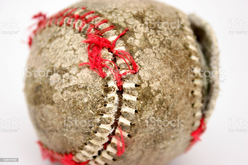 old ball in isolated