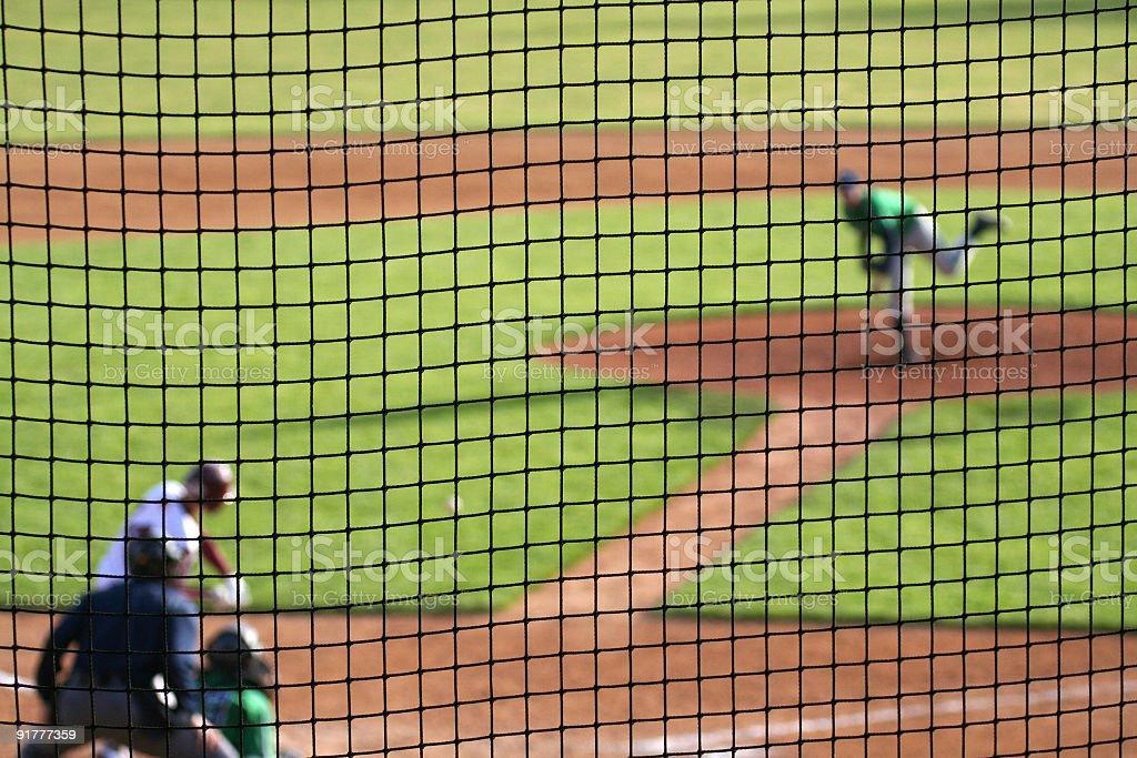 Baseball Pitch in Progress stock photo