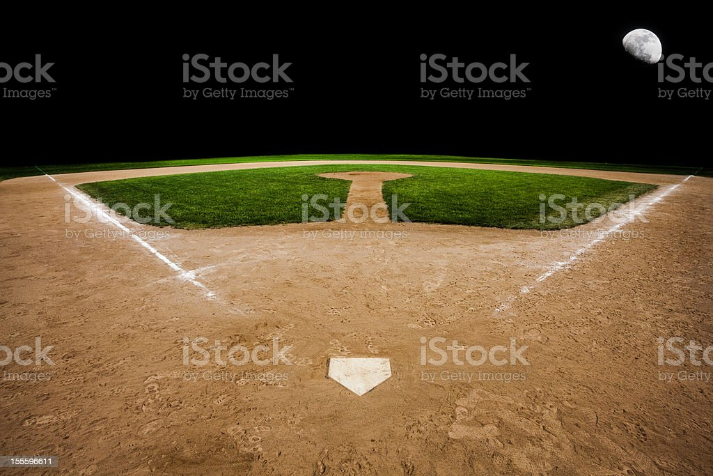 Baseball pitch with the focus on home stock photo