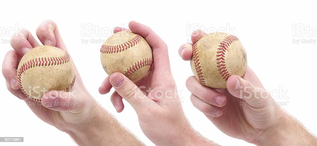 Baseball Pitches stock photo