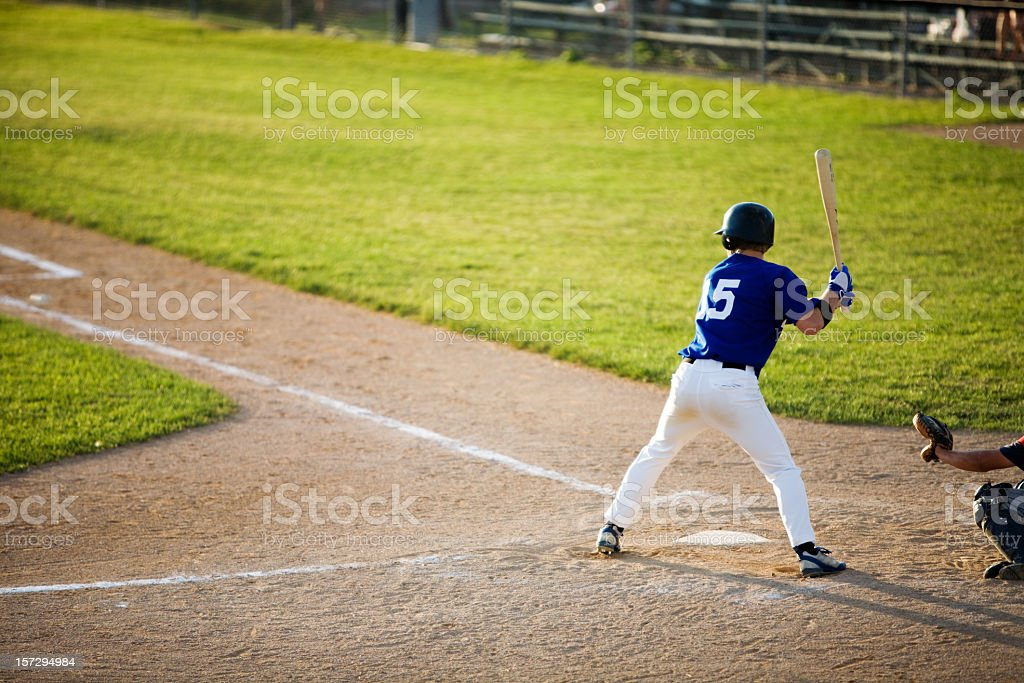 Baseball player about to hit a home run stock photo
