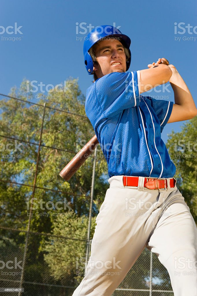 Baseball Player at Bat stock photo
