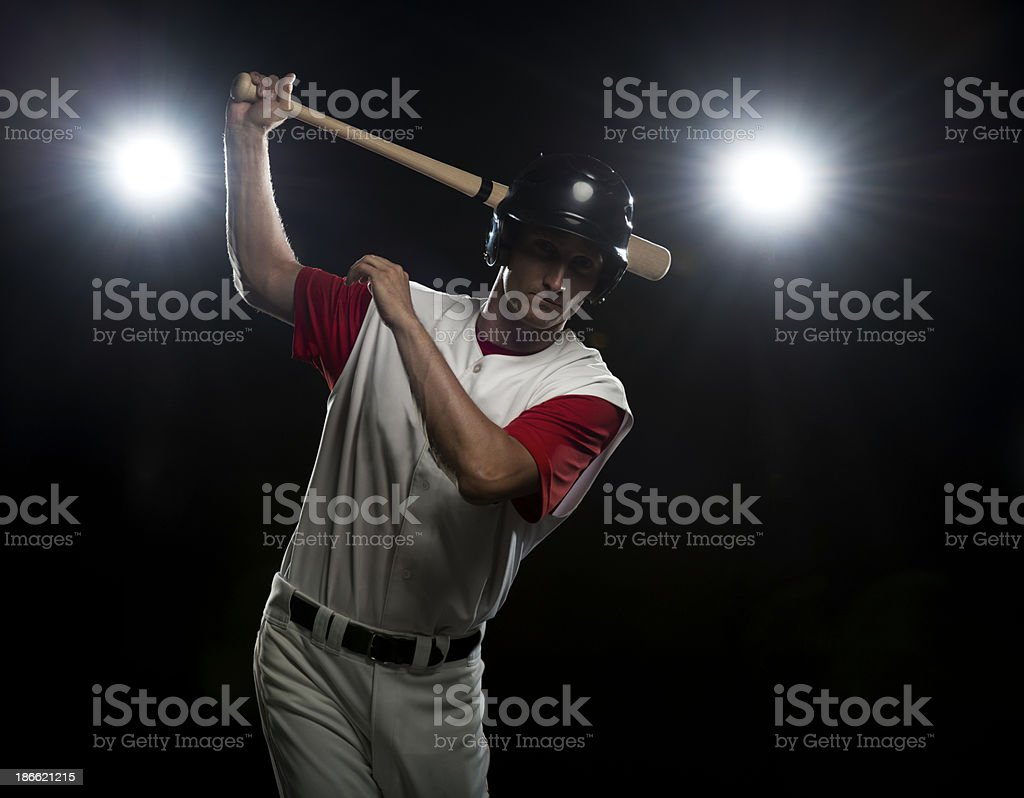 Baseball Player Batting royalty-free stock photo
