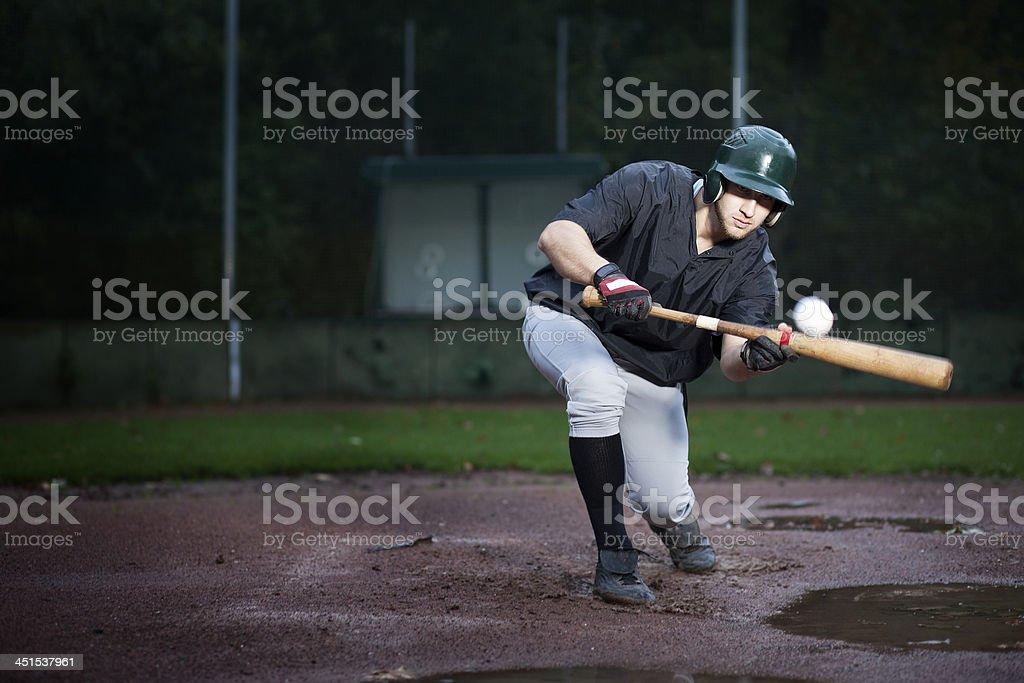 Baseball Player hitting royalty-free stock photo
