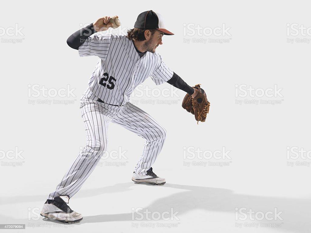 Baseball player isolated on white