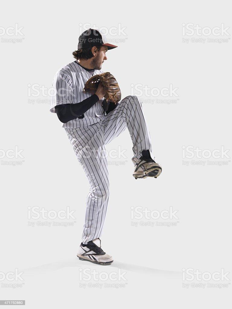 Baseball player isolated stock photo