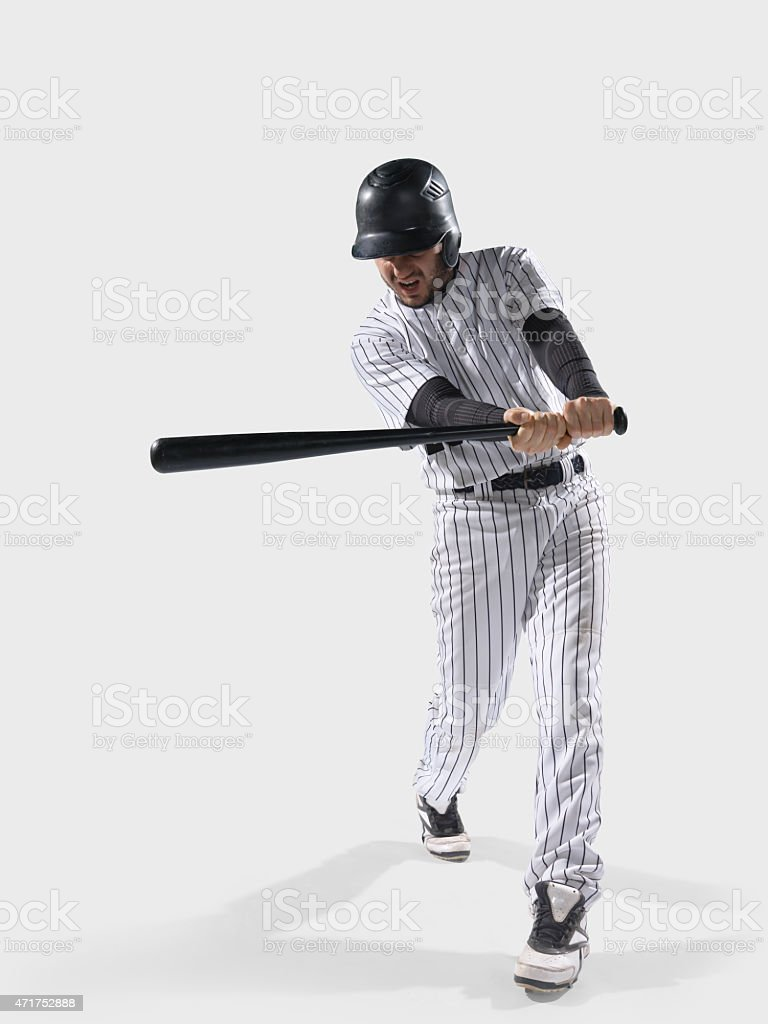Baseball player isolated stock photo
