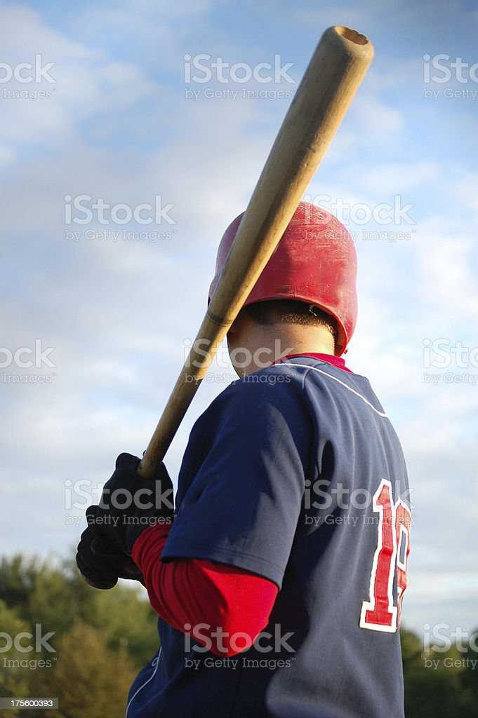 Baseball Player on deck royalty-free stock photo