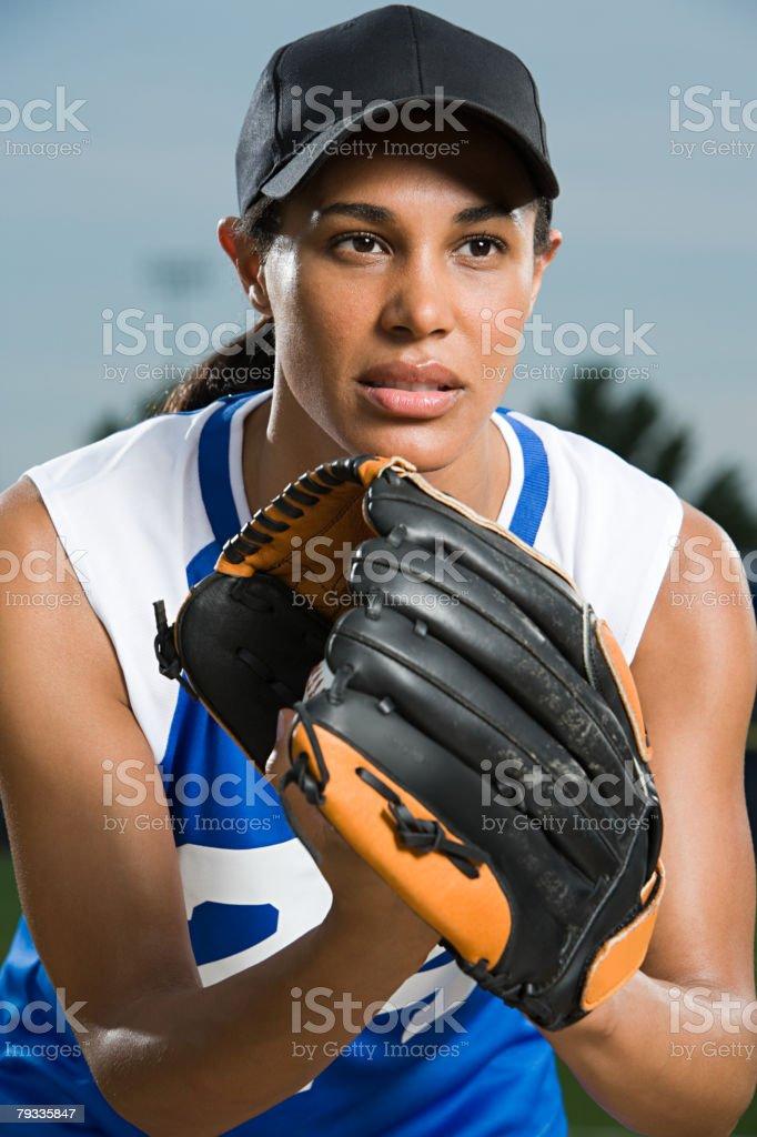 Baseball player 免版稅 stock photo