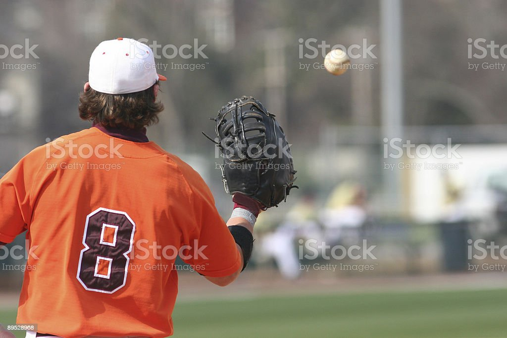 Giocatore di Baseball foto stock royalty-free