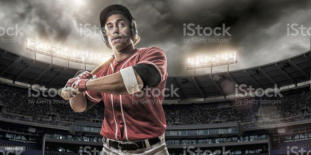 Baseball Player Ready To Hit royalty-free stock photo