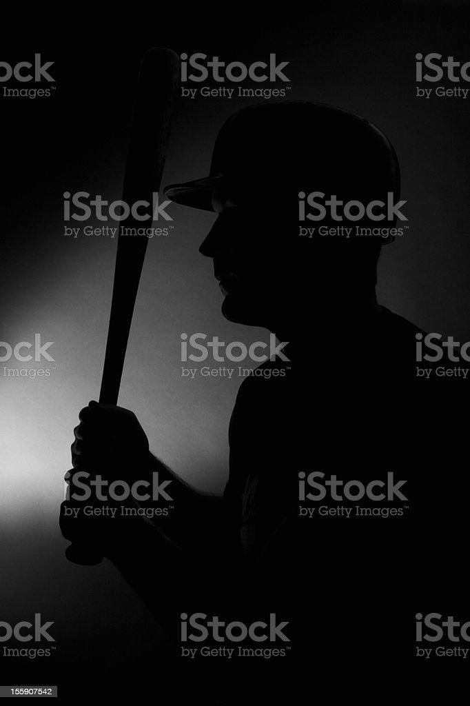Baseball Player Silhouette royalty-free stock photo