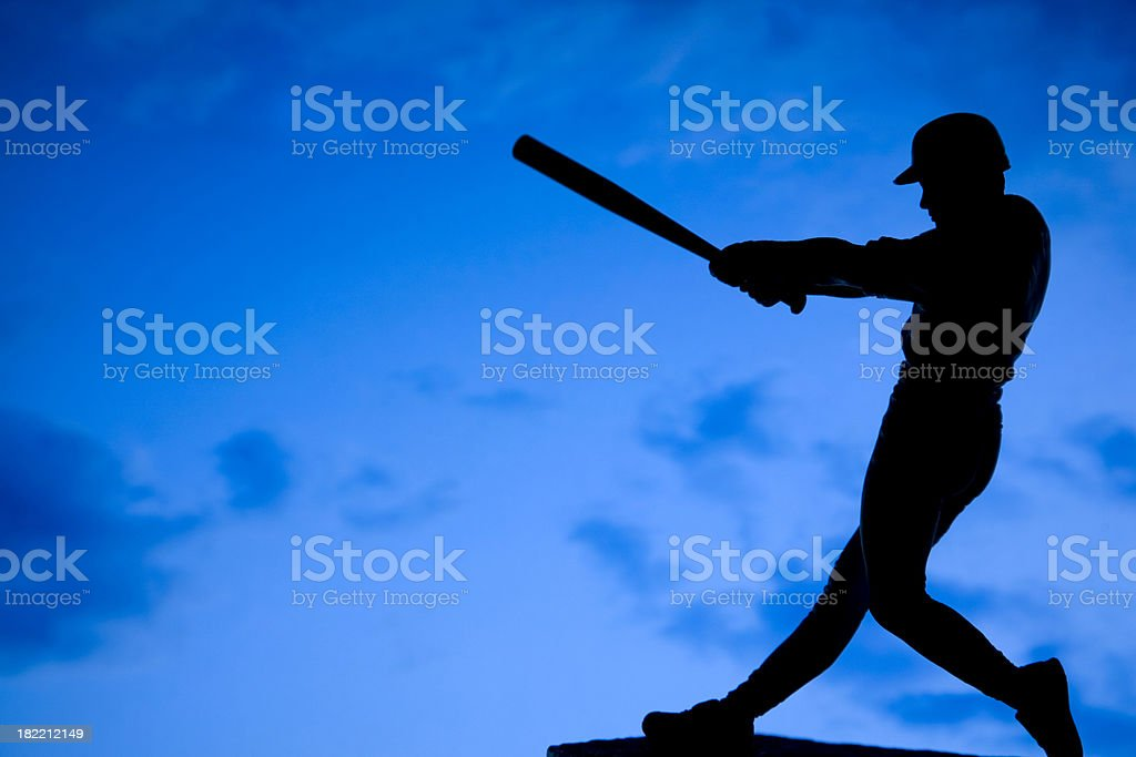 baseball player silhouette stock photo