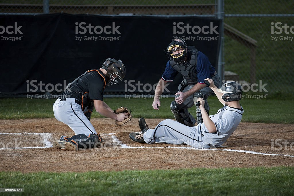 Baseball Player-Slipper in Home Plate – Foto