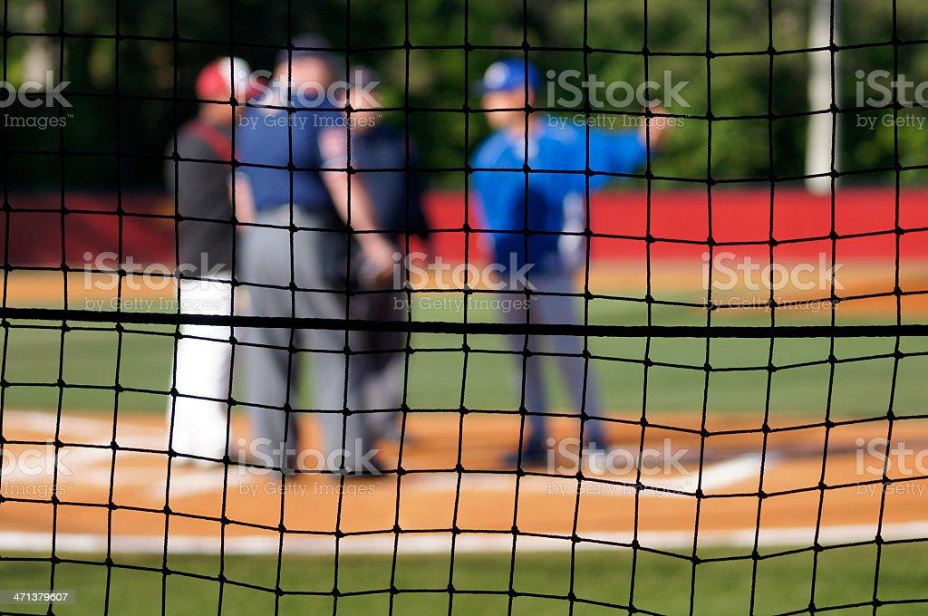 Baseball Rules Umpire & Manager Meeting - Pregame stock photo