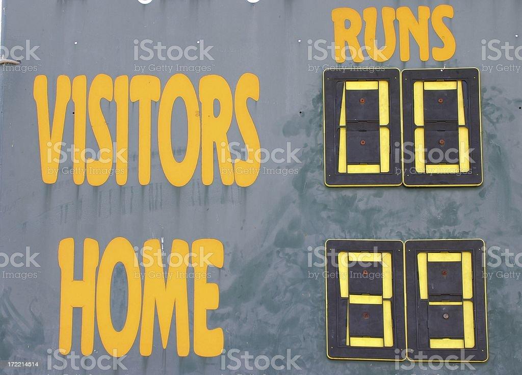 Baseball Score royalty-free stock photo