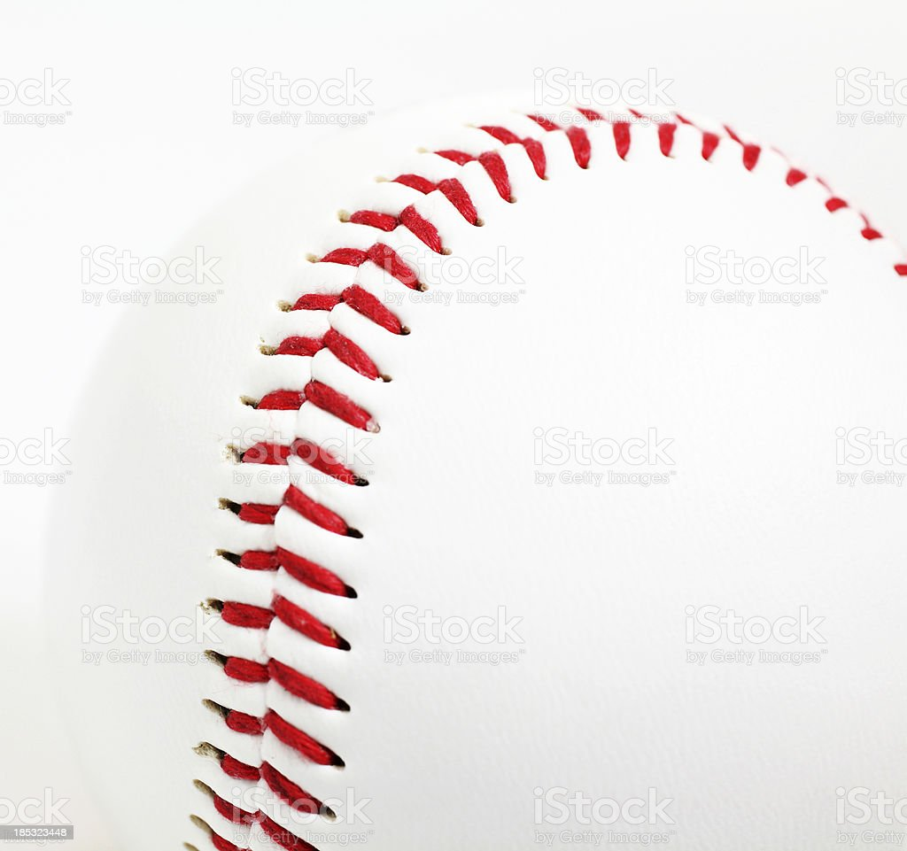 Baseball Seams stock photo