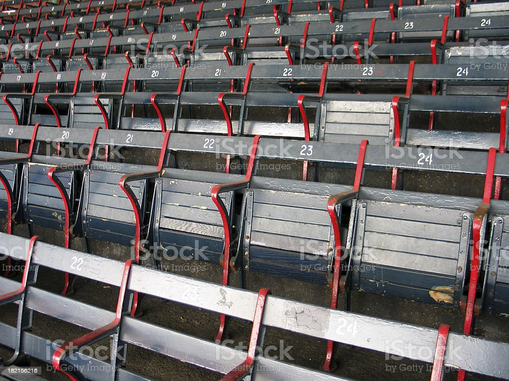 Baseball Seats 3 royalty-free stock photo