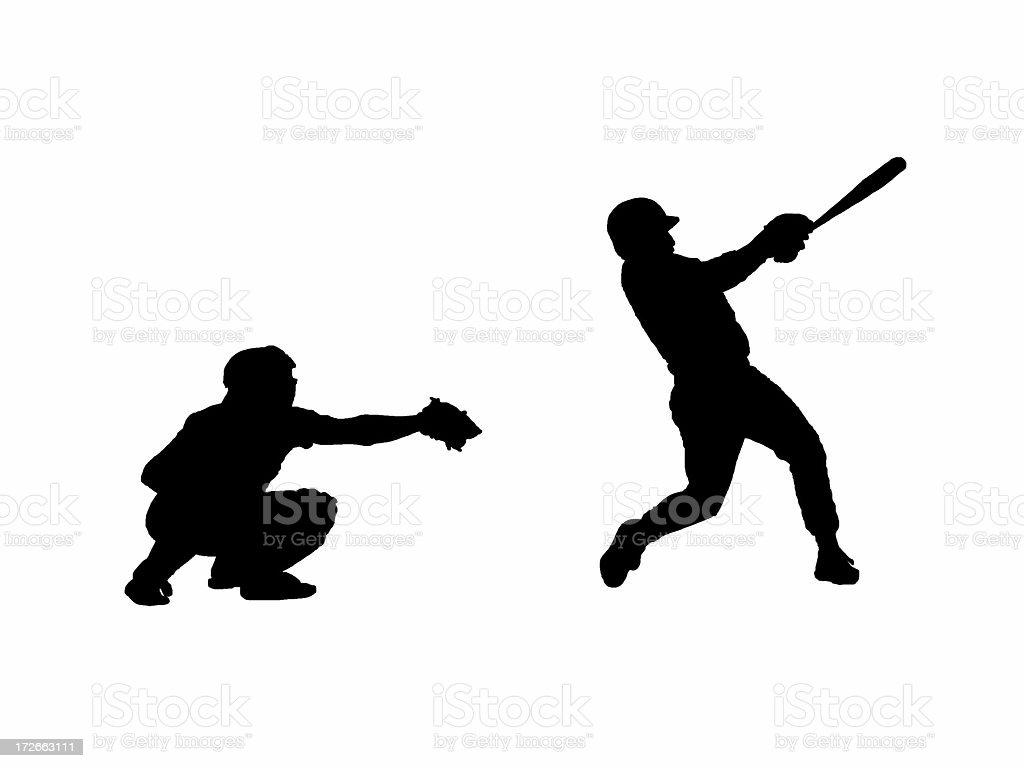 Baseball Silhouette stock photo