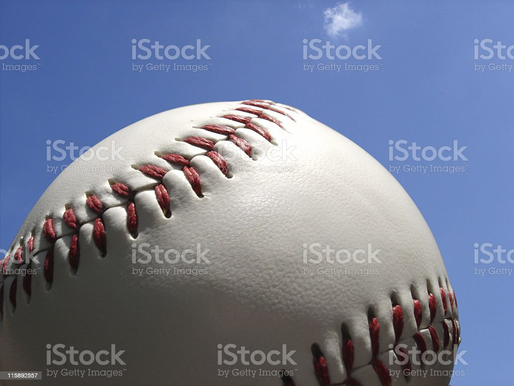 Baseball Soaring royalty-free stock photo