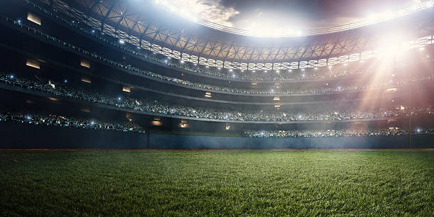 baseball stadium - soccer field stock photos and pictures