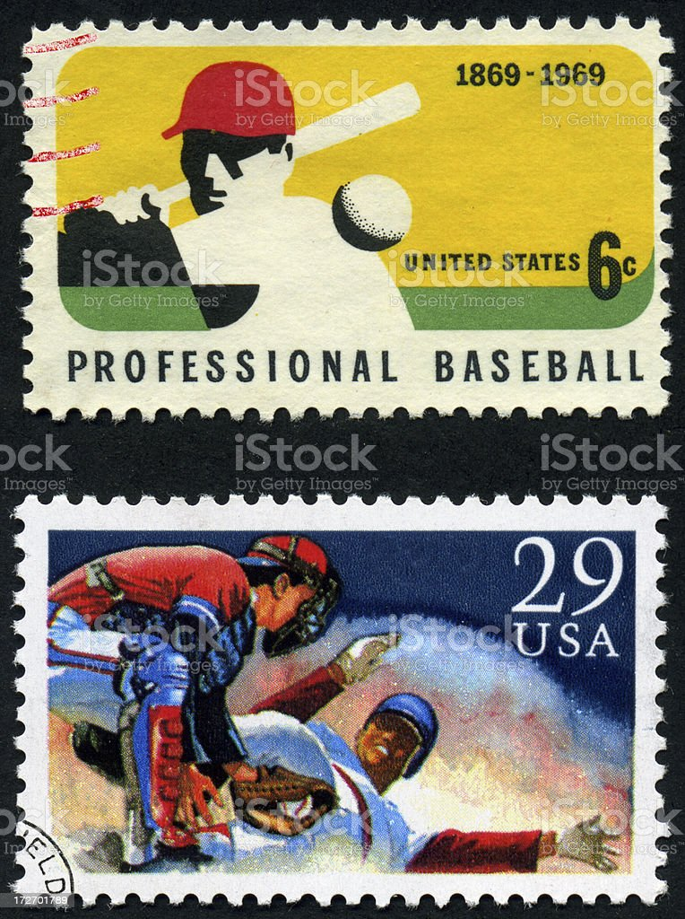 Baseball Stamps stock photo