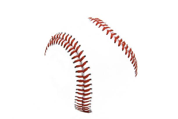 Baseball stitches stock photo