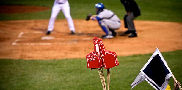 Baseball Team Number One Fan stock photo