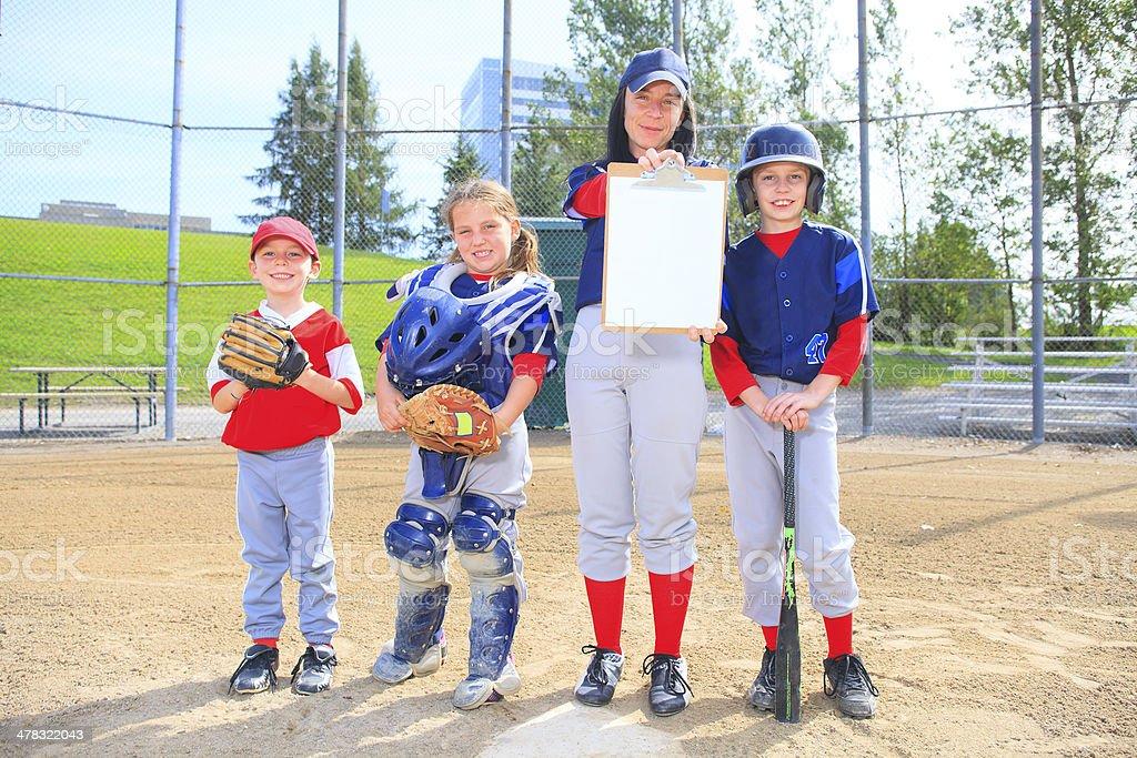 Baseball - Team White Pad stock photo