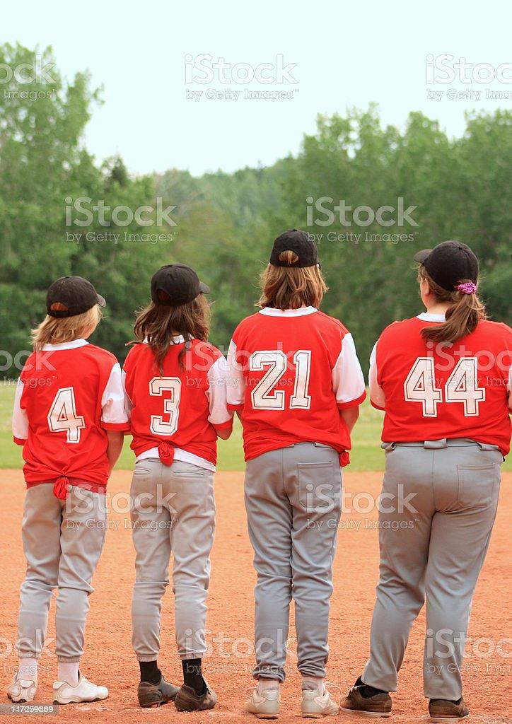 Baseball Teamates royalty-free stock photo