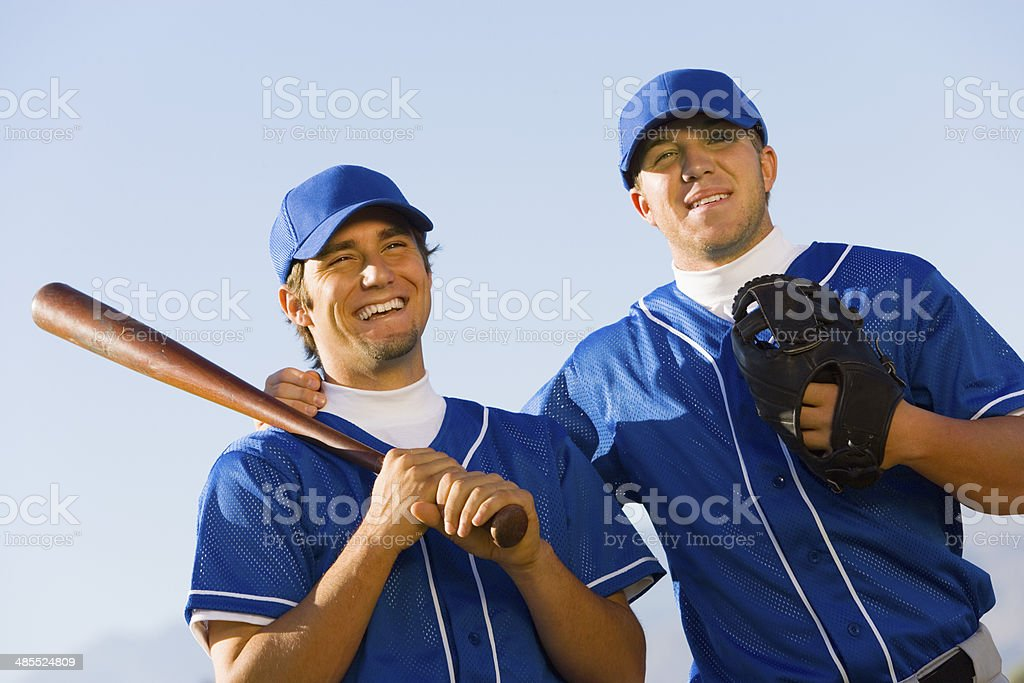 Baseball Teammates stock photo