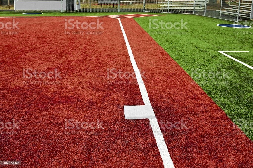 Baseball Third Base Towards Home Plate stock photo