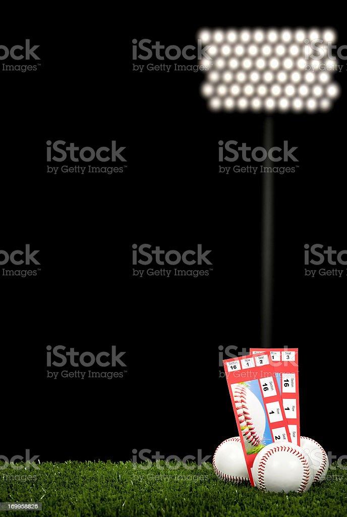 Baseball Tickets - Night Game royalty-free stock photo