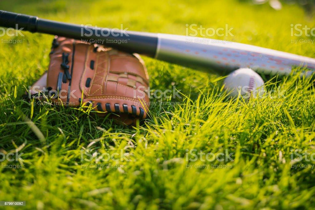 Baseball time stock photo