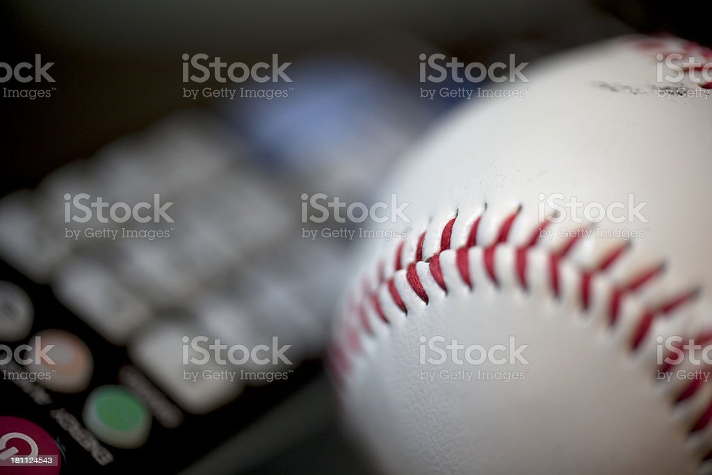 Baseball tv royalty-free stock photo