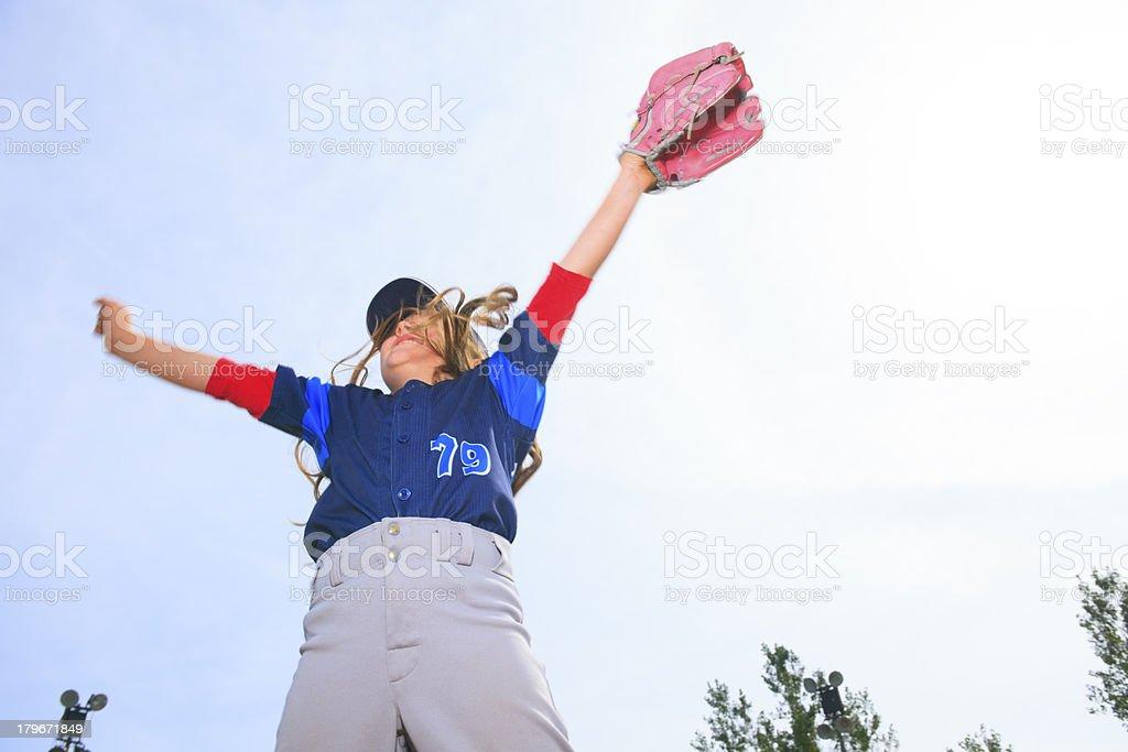 Baseball - Victory Jump royalty-free stock photo