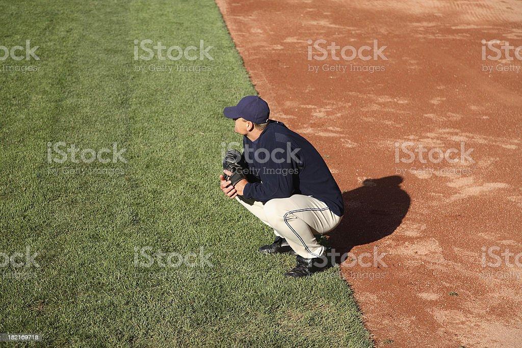 Baseball: Waiting royalty-free stock photo