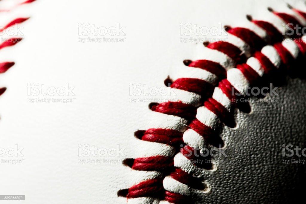 Baseball with copyspace stock photo