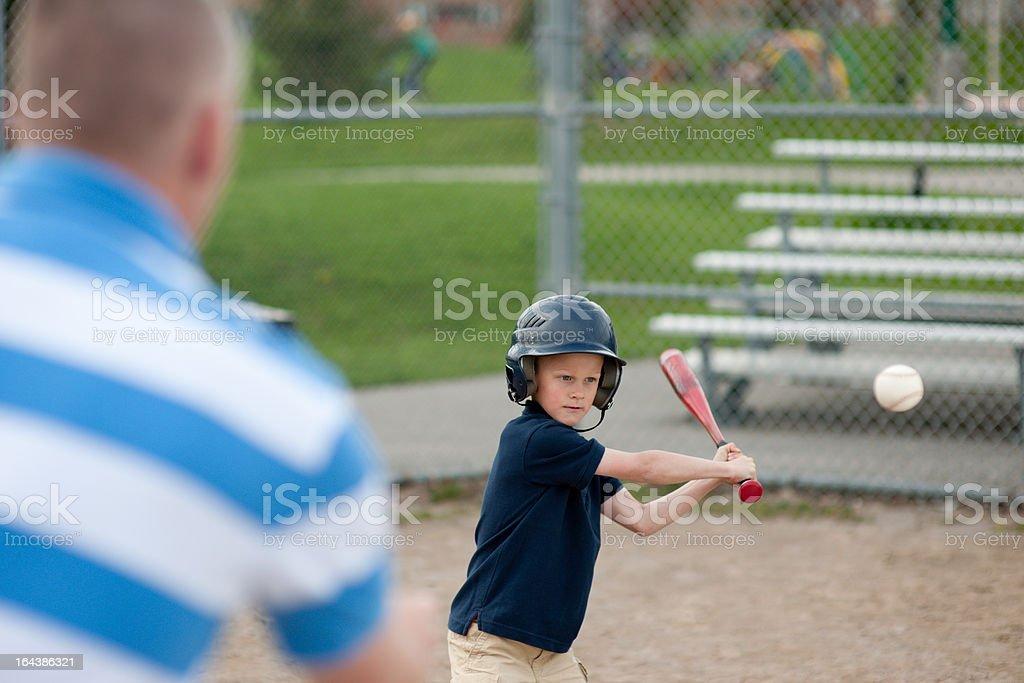 Baseball with Dad stock photo