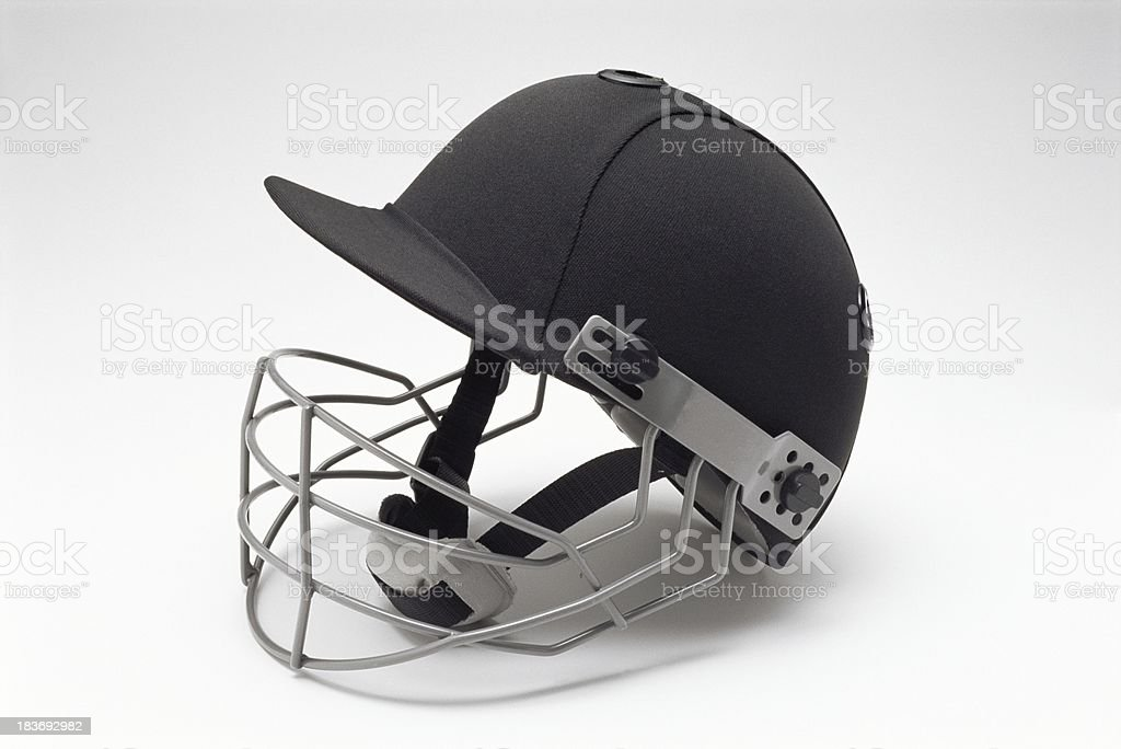Baseball with protective face cage royalty-free stock photo