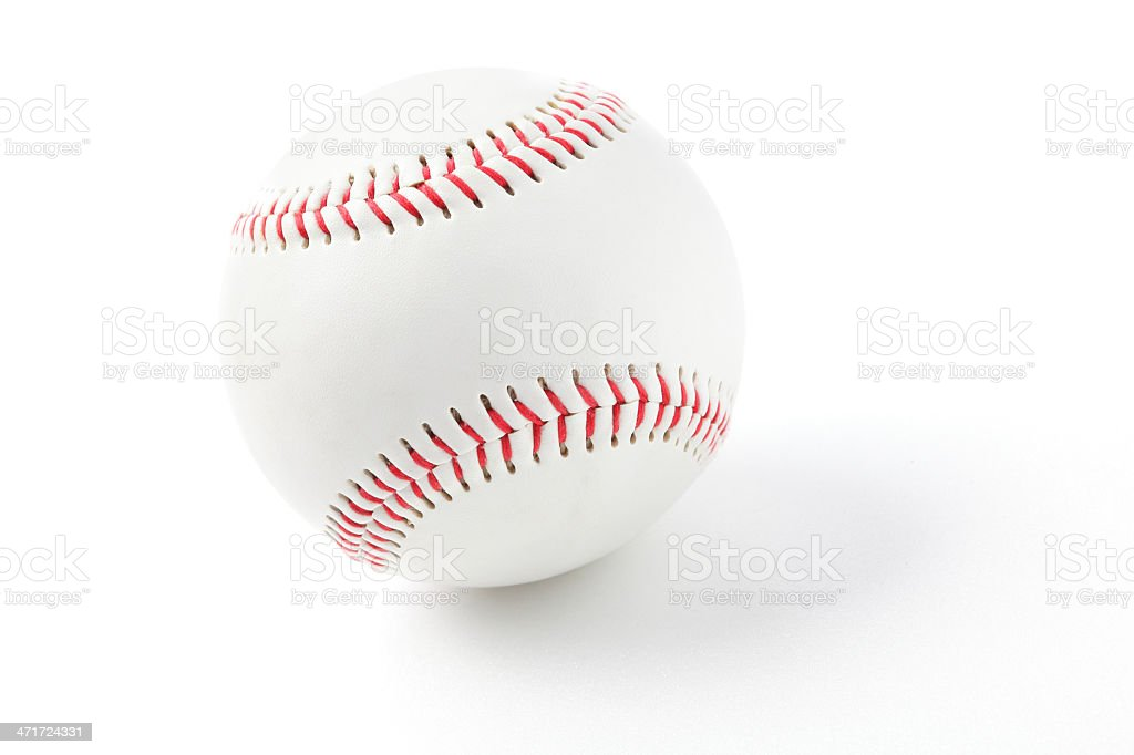 baseball with red stitching royalty-free stock photo