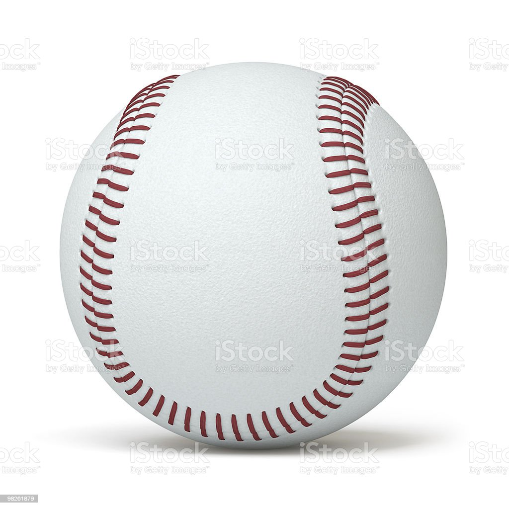 A baseball with white background royalty-free stock photo