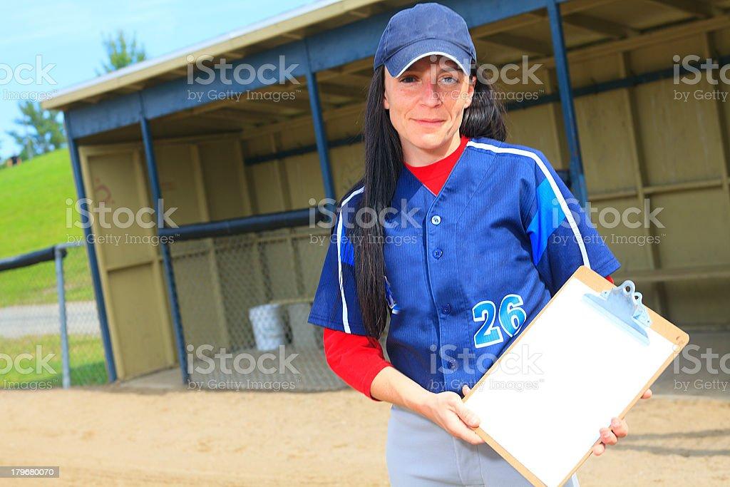 Baseball - Woman Instructor royalty-free stock photo