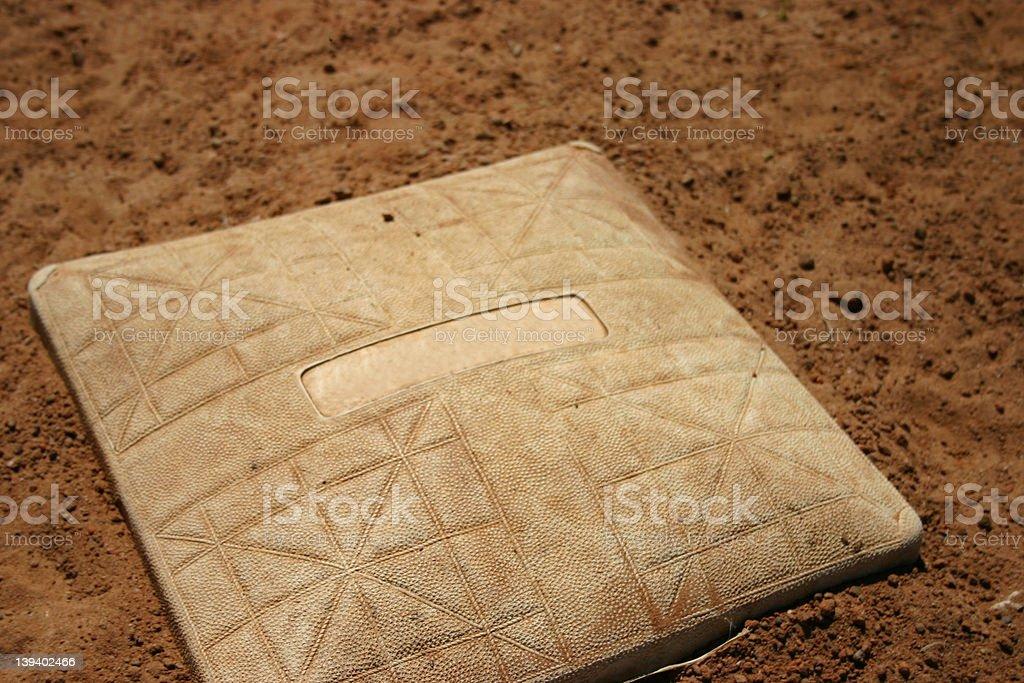 BaseballBase001 stock photo
