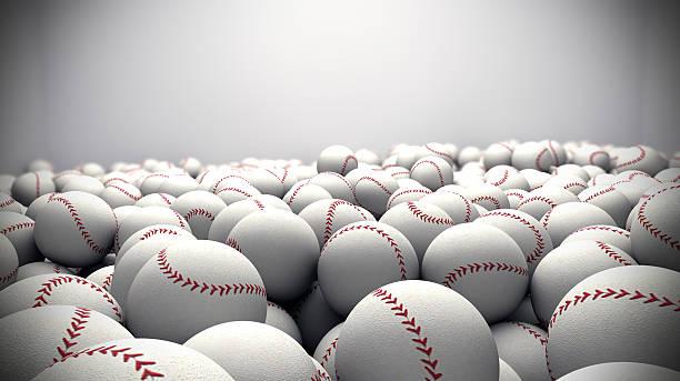 baseballs background stock photo
